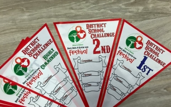 Full Colour Pennants - District School Challenge