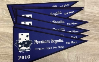 Single colour pennants - Horsham Regatta